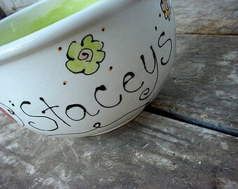 Custom standard size ceramic pottery ice cream bowl cereal popcorn bowl salsa kiln fired personalized