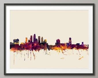 Tampa Skyline, Tampa Florida Cityscape Art Print (2026)
