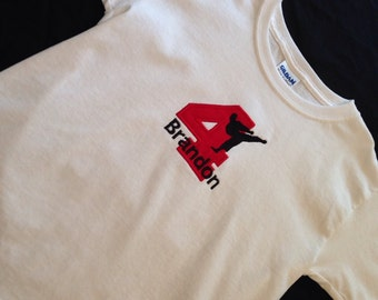 PERSONALIZED Birthday KARATE Shirt With Number