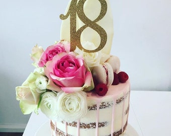Number 18 Cake Topper - Eighteen Cake Topper - Number Cake Topper - Table Numbers - Custom Age Cake Topper - 18