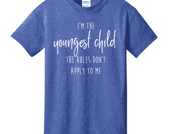 Sibling Birth Order Youth T-Shirt | Youngest Child Middle Child Oldest Child t-shirt