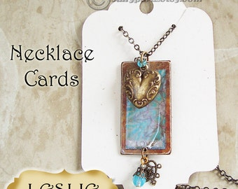 LESLIE•Earring Card and Tag Set•Jewelry Cards•Earring Display•Earring Holder•Hang Tags•Bracelet tag•40 cards 50 tags