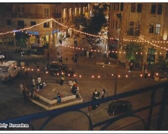 Nightly Jerusalem Postcard