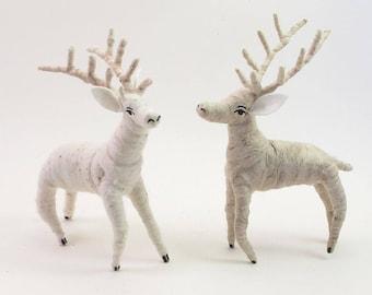 Vintage Inspired Spun Cotton Deer Ornament/Figure (MADE TO ORDER)