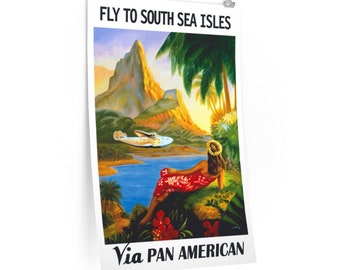 South Seas Isles Travel Poster