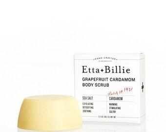 Grapefruit Cardamom Natural Sea Salt Scrub Bar Organic Ingredients
