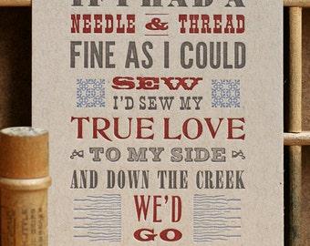 Jubilee mini letterpress poster