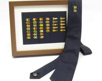 Personalized ties with nautical flags