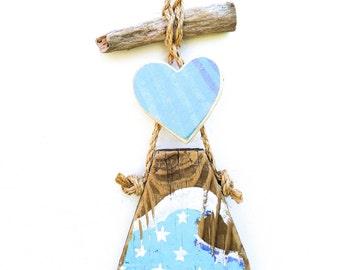 Beach Decor Turquoise Love Heart Ocean Wave Beach Sign Baby Nursery Baby Shower Wedding Shower Gift Girls Room Rustic Cottage Mangoseed