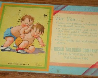 1937 Advertising Postcard~Husak Tailoring Company~Milwaukee, Wisconsin