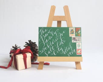 Christmas Card Calligraphy, Dip pen, hand lettered