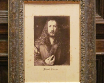 ALBRECHT DURER Old lithography in the Woodenframe.