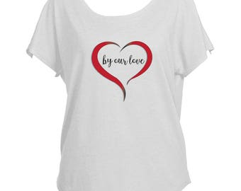 By Our Love Triblend Dolman Tee