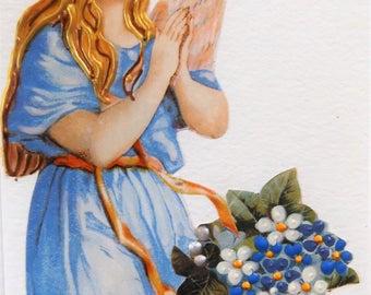 Fine Art Greeting Card: OOAK Angel Montage 'Daisies'