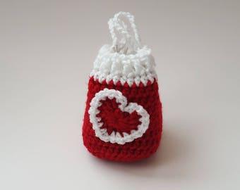 CROCHET PATTERN/Valentine Minnie Drawstring Bag Pattern/Crochet Drawstring Bag Pattern/PDF Pattern