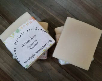 Coconut Oil Unscented Artisan Soap