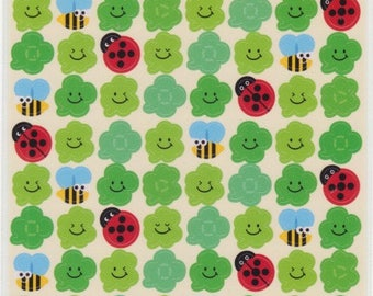 Bee Stickers - Clover Stickers - Ladybug Stickers - Planner Stickers - Reference A4192