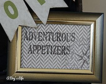 Aventure 5 x 7 signes partie PDF imprimable Adventure Party