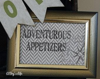 Adventure 5x7 Party Signs Printable  PDF Adventure Party
