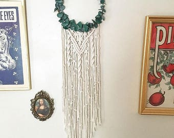 Macrame Dreamcatcher with Eucalyptus