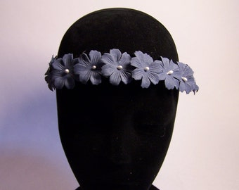 HEADDRESS Crown of blue flowers