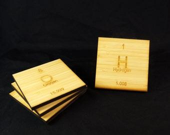 Blonde Bamboo // C H O N Coasters // Chemistry