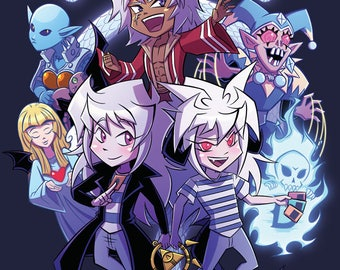"Holographic Triple Threat Bakura 11x17"" Print - Ryou Bakura, Thief King Bakura, Bakuship"
