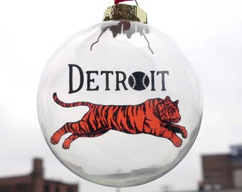 Leaping Detroit Tiger Ornament