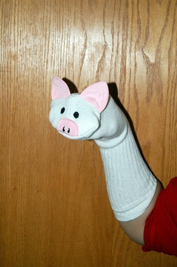 Marioneta del calcetín del cerdo de títeres de animales de