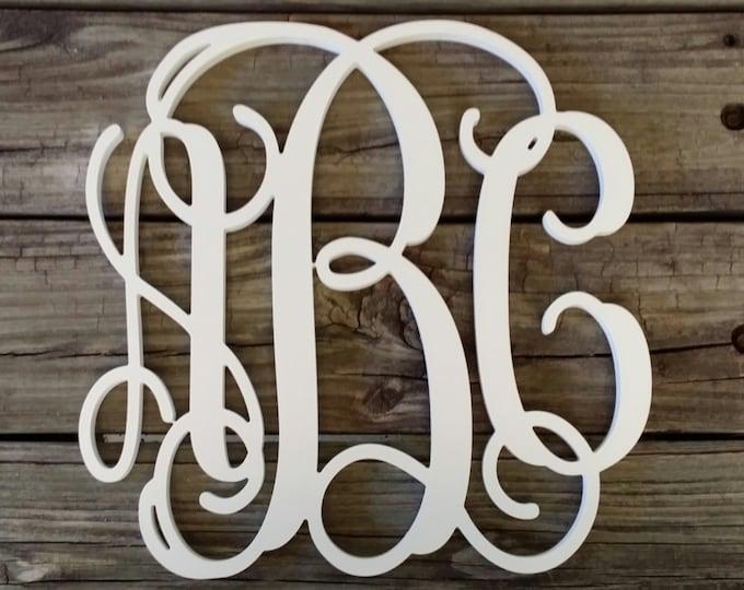 Painted Wooden Monogram - Wooden Initials - Wedding Gift - Housewarming Gift - Personalized Gift - Nursery Monogram - Monogram Wall Hanging