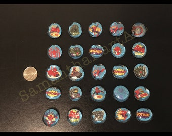 25 Spiderman magnets- small