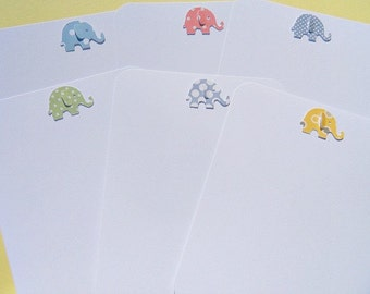 Baby Gift Thank You Cards  - Baby Shower Thank You Cards - Baby Elephant Cards - Polka dot baby elephant thank you cards - bepc