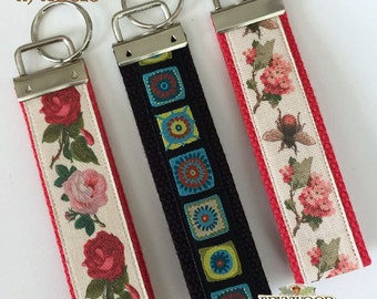 Colorful Key Fobs, Key Keepers, Quilt Key Fob, Floral Key Fob, UK Key Fob, Dala Horse Key Fob, Corgi Key Fob, Inspirations Key Fob