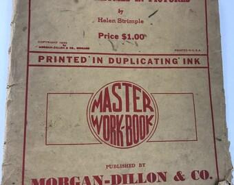 Vintage Package of Nursery Rhymes in Pictures Coloring Pages (Printed in Duplicating Ink)