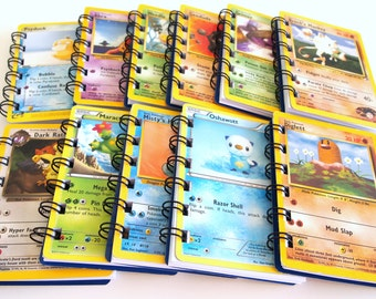 10 Upcycled Pokemon Notebooks - Pokemon Party Favors - Pokemon Favor - Pokemon Birthday Party - Pokemon