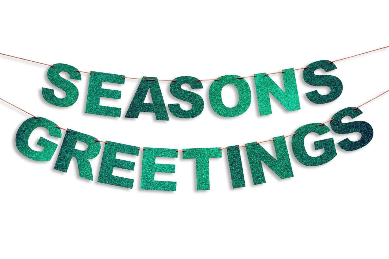 Seasons greetings garland seasons greetings banner holiday zoom kristyandbryce Choice Image