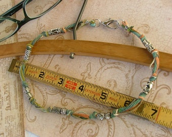 Knotted Silk Boho Necklace