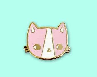 Golden Kitty Hard Enamel Pin