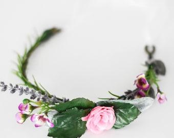 Wildflower + Lavender Baby Crown