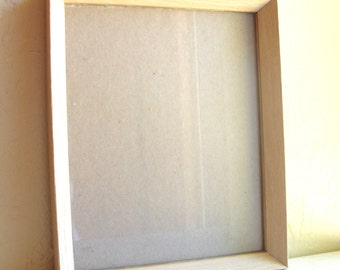 8x10 Wooden Cream with Gold Trim Picture Frame Wood with Glass