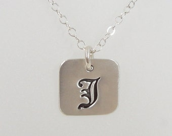 Initial Necklace - Sterling Silver Personalized Necklace