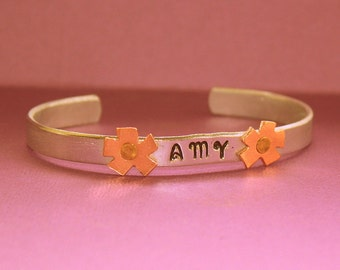 Personalized Cuff Bracelet - Hand Stamped Jewelry
