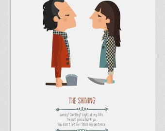 Illustration, print, The Shining, Kubrick, Tutticonfetti, Wall art, Art decor, Hanging wall, Printed art, Decor home, Gift idea,Sweet home