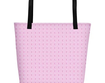 Breast Cancer Awareness Beach Bag