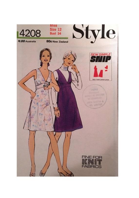 Vintage-Stil Schnittmuster 4208 für Kleid oder