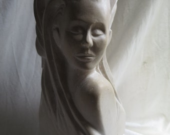 Stone Carving,  hand carved in limestone -   Awakening