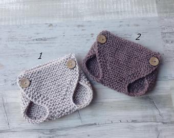 ON SALE! Newborn diaper covers,diaper cover,knit,knit diaper cover,baby diaper cover,photo prop,button