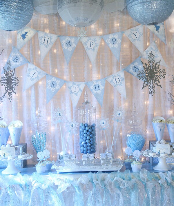 Snow Fairy Winter Wonderland Party Decorations Banner