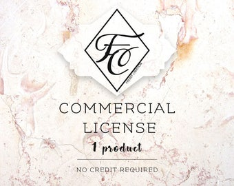 Commercial License - One Product / No Credit Required