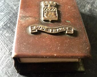Antique French Match safe, match holder, match keep Holder